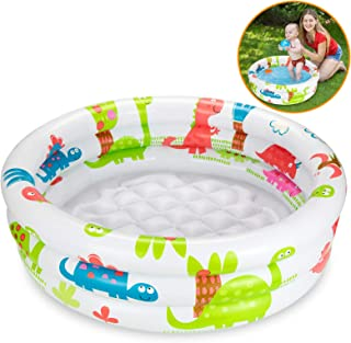 Ucradle Aufblasbares Planschbecken - Beach Buddies Baby Pool Kinder Aufstellpool Kinderplanschbecken, Mehrfarbig Durchmesser 90 x 20 cm, für 1-3 Jahre
