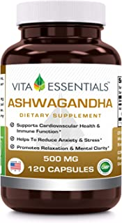 Vita Essentials Nutritional Supplements, Ashwagandha, 500 Mg, 120 Count