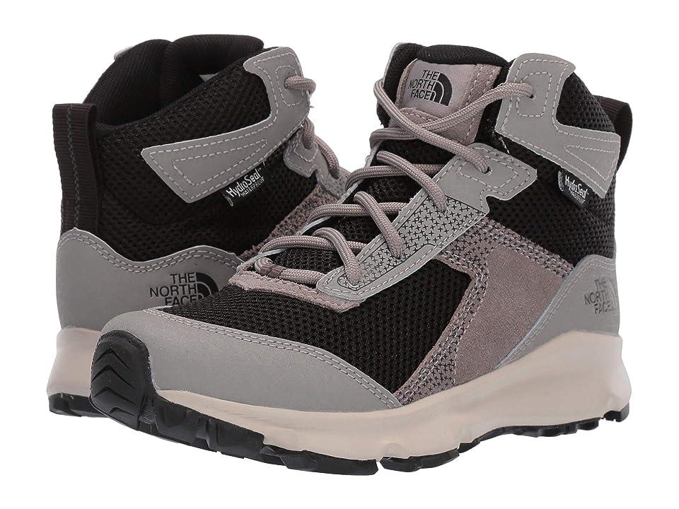 The North Face Kids Hedgehog Hiker II Mid Waterproof (Little Kid/Big Kid) (Silt Grey/TNF Black) Boys Shoes