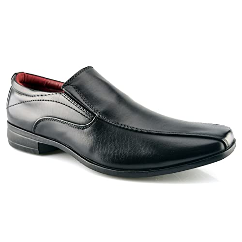 51e151c601b5 Mens New Office Work Back To School Slip On Twin Gusset Smart Dress Formal  Shoes Size
