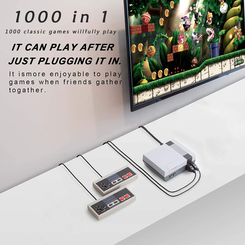 discount 1000 Max 57% OFF Retro Classic Video Game Console Mini NES Output AV