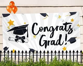 "Graduation Banner – Graduation Party Supplies 2019 - Extra Large 71"" x 40"" – 2019 Congrats Grad Decorations & Supplies"