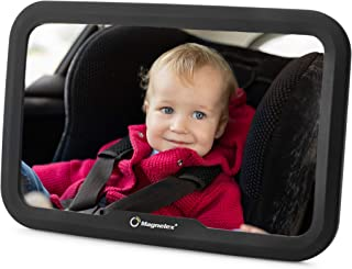 Magnelex Baby Car Mirror for Rear-Facing Infants and Toddlers. Wide Crystal-Clear View Car Seat Mirror, Safe and Shatterproof, Simple Install with No Tools. No Jiggle or Vibration. Excellent Gift Idea