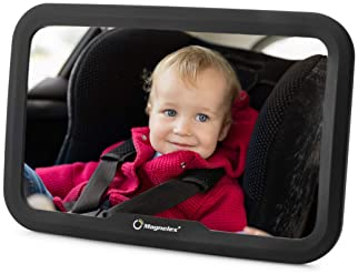 Magnelex Baby Car Mirror for Rear-Facing Infants and Toddlers. Wide Crystal-Clear View Car Seat Mirror, Safe and Shat...
