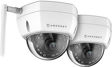 2-Pack Amcrest ProHD Fixed Outdoor 4-Megapixel (2688 x 1520P) Wi-Fi Vandal Dome IP Security Camera - IP67 Weatherproof, IK10 Vandal-Proof, 4MP (2688 x 1520P), IP4M-1028W (White)