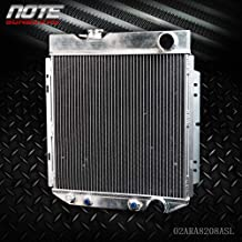 62mm Aluminum Racing Radiator Stop Leak For 1964 1965 1966 FORD MUSTANG/SHELBY V8 I6 MT&AT Silver