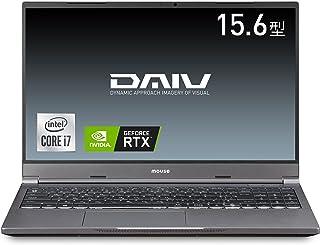 mouseクリエイター15.6型WQHDノートパソコン DAIV(Corei7 10870H/RTX3060/16GB/512GB/Win10)DA-N-IY71SIR6ZM【Windows 11 無料アップグレード対応】