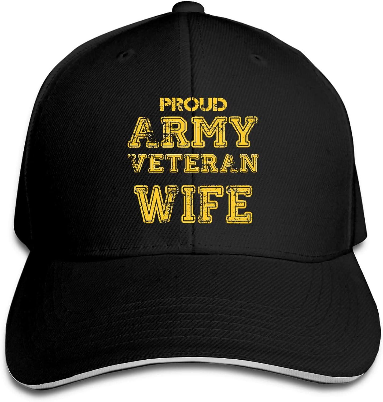 Enichan U.S. Army Veteran Proud Wife Mens Womens Climbing Baseball Cap Outdoor Hat Adjustable Party Headgear
