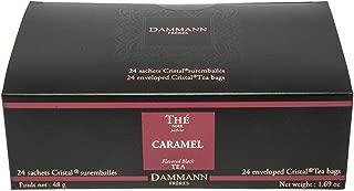 DAMMANN FRERES Caramel Toffee Flavored Black Tea, 24 Cristal Teabags