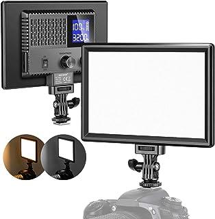 Neewer Ultra Slim LED Video Softlight Panel, dimmbar auf Kamera Videobeleuchtung für DSLR Kameras Fotografie mit LCD Display / 3200 5600K / CRI 95 + / Eingebauter Akku für Studio Foto Videoaufnahmen