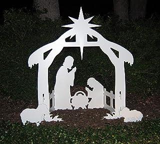 Best Teak Isle Christmas Outdoor Nativity Set, Yard Nativity Scene Review