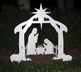 Teak Isle Christmas Outdoor Nativity Set, Yard Nativity Scene