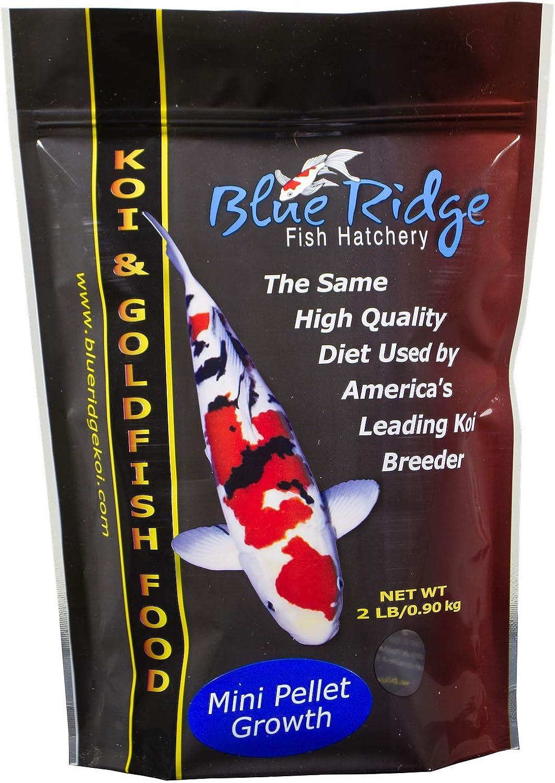 bluee Ridge Growth Formula Koi & goldfish Food Mini Size 2 lb