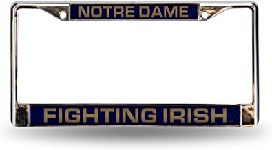 Notre Dame Fighting Irish NCAA Rico Industries  Laser Inlaid Metal License Plate Tag