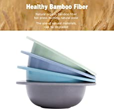4pcs Bamboo Kids Bowls for Baby Feeding, Non Toxic & Safe Toddler Snack Bowls, Eco-Friendly Tableware for Baby Toddler Kids Bamboo Toddler Dishes & Dinnerware Sets