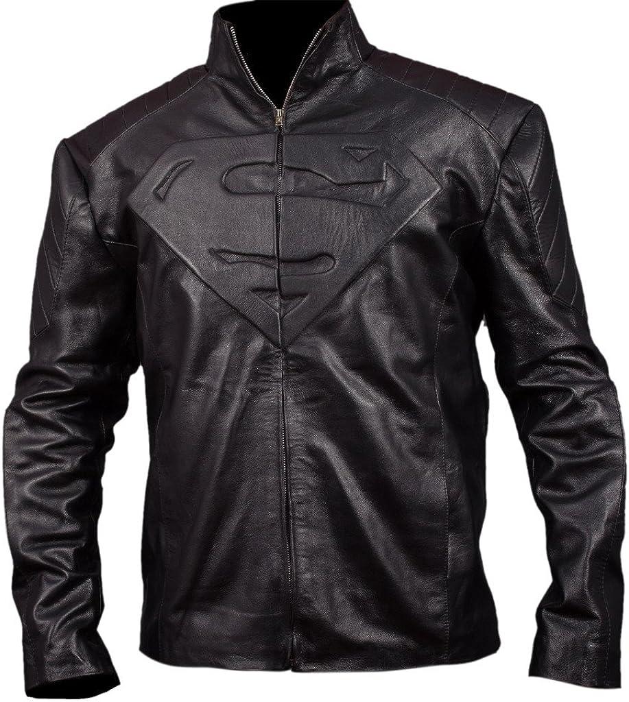 Flesh & Hide F&H Men's Superman Genuine Leather Jacket