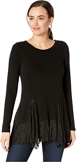 Lace Inset Sweater