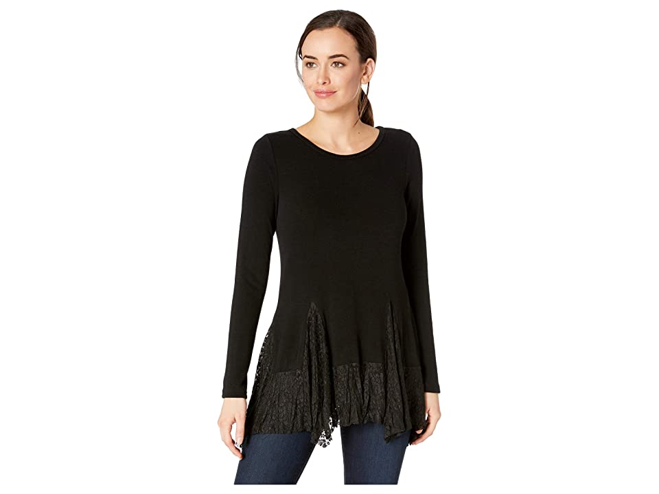 Karen Kane Lace Inset Sweater (Black) Women