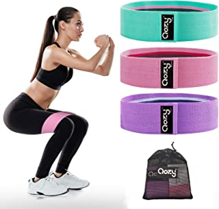 QOZY Resistance Bands 3 Pack, Booty Bands for Legs Butt, Workout Exercise Bands Women Hip Thigh, Glute Loop Bands, Non-Sli...