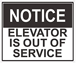 Notice Elevator is Out of Service Sign (White Background,Aluminium, 10x12)