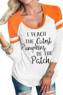 Women I Teach The Cutest Pumpkins in The Patch Raglan Sleeve Baseball T-Shirt