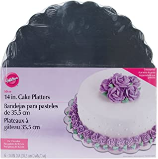 Wilton 14 Inch Silver Cake Platters 6 Count (229843)