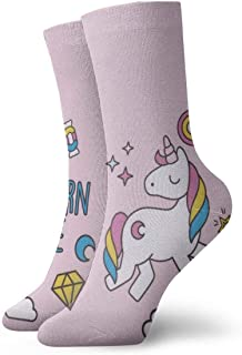 Dreaming Unicorn Unisex Funny Casual Crew Socks Athletic Socks For Boys Girls Kids Teenagers