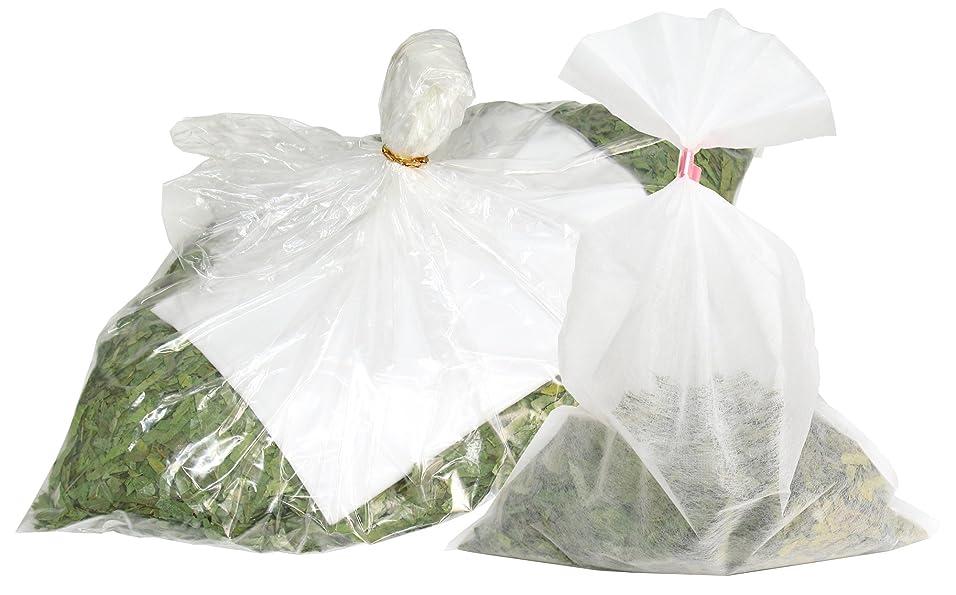 エキスパート割り当てます多様体自然健康社 シジュウムの湯 600g 乾燥刻み 不織布付き