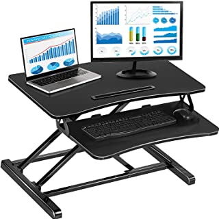 Standing Desk with Height Adjustable, 32 Inch Stand Up Desk Converter, Quick Sit to Stand Ergonomic Tabletop Workstation R...