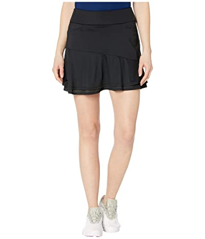 adidas Golf Ultimate365 Knit Frill Skort (Black) Women