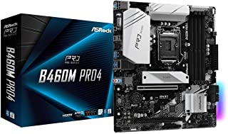ASROCK B460M PRO4 Supports 10th Gen Intel® Core™ Processors (Socket 1200) motherboard