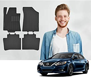 Road Comforts Custom Fit Nissan Altima 2013-2018 Car Floor Mats of Quality with a Stylish Look - Front and Second Row (4pcs) (Black)