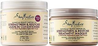 Shea Moisture Jamaican Black Castor Oil Combo Pack, Strengthen, Grow & Restore Treatment Masque, 12 Ounce   Strengthen & R...