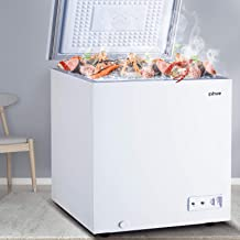 svhwe 7.0 Cubic Feet Chest Freezer Free-Standing Top Door Compact Freezers Energy Saving Low-Noise Deep Frezzer for House ...