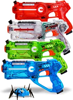 DYNASTY TOYS Family Laser Tag Set – 4 Laser Tag Blasters – Transparent..
