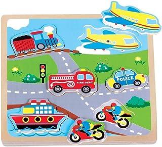 Sponsored Ad – Lelin Wooden Transport Sound Puzzle
