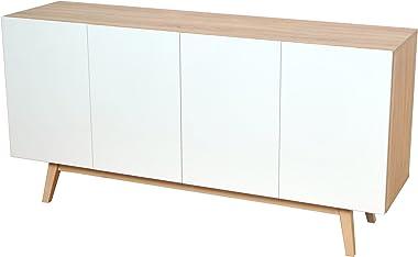 WEBER INDUSTRIES Home Bahut, Chêne Blanchi, 160 x 41,6 x 80,1 cm