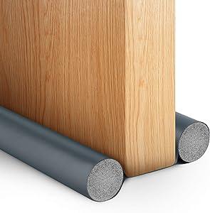 PHYOPUS 2 Pack Door Draft Stopper,Under Door Draft Blocker,Noise Sound Light Smell Blocker for Doors and Windows