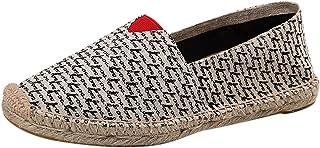 Beudylihy Chaussures pour femme tricotées à la main, chaussures à pédale avec semelles plates, chaussures de sport avec se...