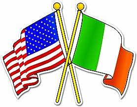 Irish-USA Flags Decal Vinyl Window Sticker