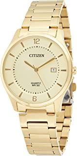 CITIZEN Mens Quartz Watch, Analog Display and Gold Plated Strap - BD0043-83P