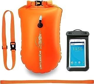 LimitlessXme Boya De Natacion con Bolsa Seca Plus Bolsillo Impermeable Celular. Visibilidad y Seguridad al Nadar en el mar y en el Lago.