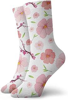 Pengyong, Peach Blossom Calcetines informales transpirables para correr, entrenar y caminar para hombres y mujeres