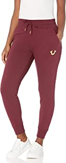 True Religion womens High Waisted Raw Slim fit Jogger Sweapant Sweatpants