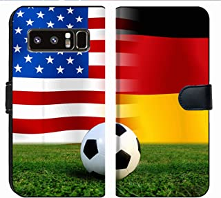 MSD Premium Phone Case Designed for Galaxy Note 8 Flip Fabric Wallet Case Image ID: 26544143 Soccer World Cup 2014 Football United States of America and Germ