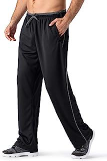 Sponsored Ad - MAGNIVIT Men's Lightweight Sweatpants Loose Fit Open Bottom Mesh Athletic Pants with Zipper Pockets