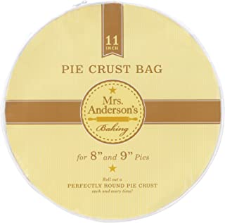 """Mrs. Anderson's Baking Easy No-Mess Pie Crust Maker Bag Pie Crust Bag, 11"""" 11"""" Clear"""