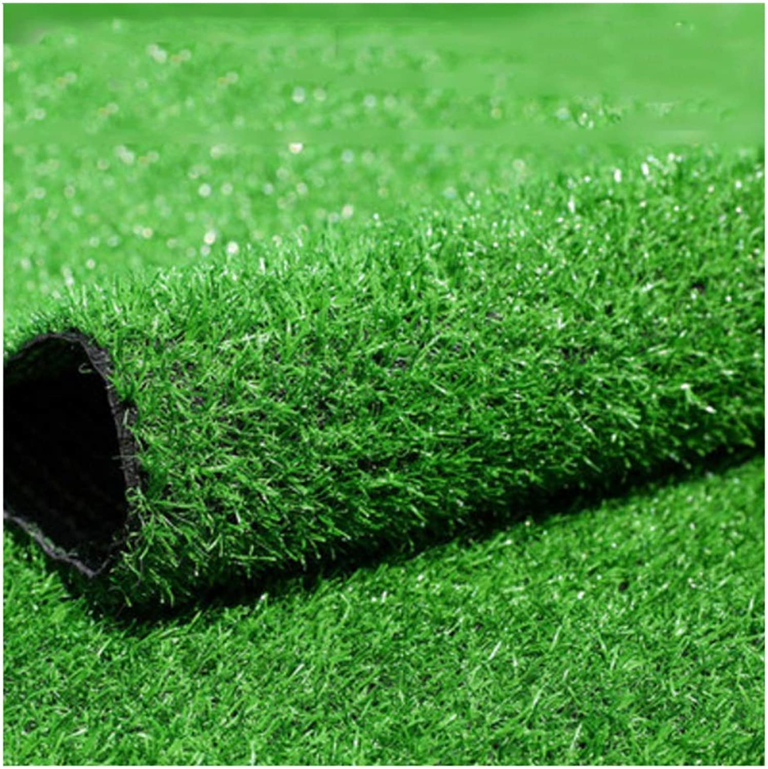 Simulation Indoor Outdoor Green Artificial Grass Carpet 20mm Pile High Synthetic Lawn with Drainage Hole Garden Fake Turf (Size   2x8m)