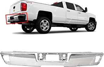 MBI AUTO - Steel Chrome, Rear Step Bumper Face Bar for 2014 2015 2016 2017 2018 Chevy Silverado & GMC Sierra, GM1102558