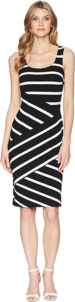 Adrianna Papell Ottoman Striped Sheath Dress